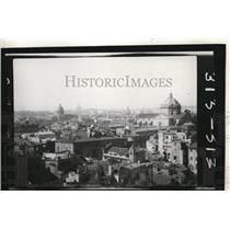 1927 Press Photo A view of Rome Italy through a window