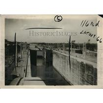 1913 Vintage Photo Looking Down Panama's Gatun Lock Showing Lower Gates