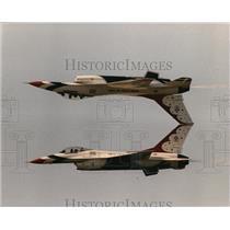 Press Photo Jet plane stunts