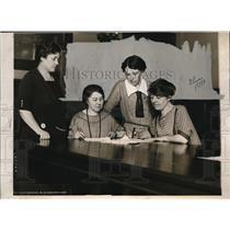 1924 Press Photo The W omen Trade Union League are Green, Nestor, Newman and Smi