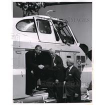 1962 Press Photo David Mackey, Pitts Mayor JM Barr & Wm McClelland