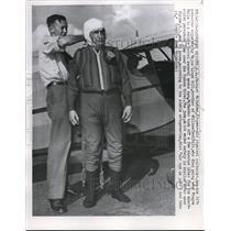 1951 Press Photo Hasbrouck Heights NJ Bernarr McFadden & Maj Lloyd Hill