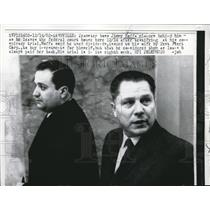 1962 Press Photo Nashville Teamster boss Jimmy Hoffa  at his conspiracy trial