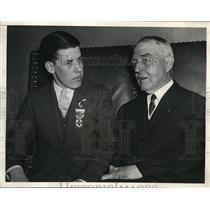 1934 Press Photo Junior Red Cross Chair Samuel Montgomery & Chair John Payne