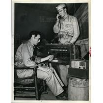 1942 Press Photo Platoon Switchboard in Southern California