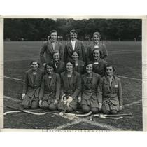 1931 Press Photo Scottish girl hockey touring team at Haverford, Pa - ned00971