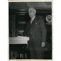 1931 Press Photo Thomas F McMahon pres of US Workers of America