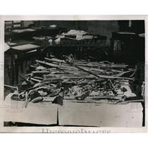 1934 Press Photo Communist arsenal uncovered in Paris by police raid