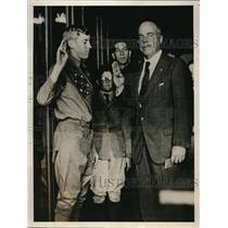 1927 Press Photo Boy Scout John Strittmatter swears in Nicholas Longworth
