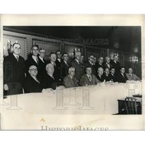 1931 Press Photo Executives of the 21 Principal Railway Unions meet in Chicago