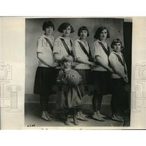 1924 Press Photo Sam R. Huey Family Sisters Part of Champion Family Team