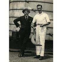 1922 Photo Jai Alai Player Emilio Equiluz & Sports Writer Horatio Roqueta