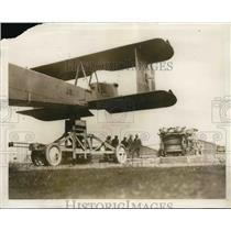 1931 Press Photo 9 TON PLANE CATAPULTED INTO AIR