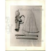 1937 Press Photo Parachute Doll