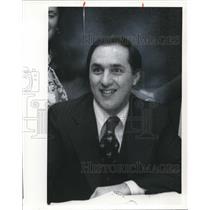 1977 Press Photo Frank Byrne Sales Manager WQAL-FM Radio