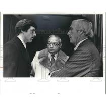 1981 Press Photo Tom Meyer, Virgil Dominic & Atty Wilson Chockley Jr. at trial