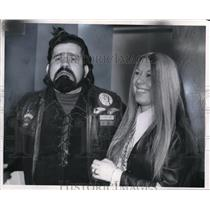 1972 Press Photo Hells Angels Russell Beyer and wife Pat