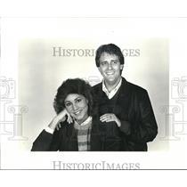 1984 Press Photo famous Cleveland radio personalities Kim Scoot & Dan Deely