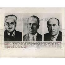 1948 Press Photo DC Philip MCafee, ES Larsen, MJ Gayn, spy investigation