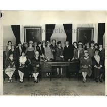 1929 Press Photo Women Of National Federation Of Business & Professional Women