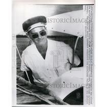 1960 Press Photo Gainsville Fla Jack Wood at marathon of staying awake 10 days