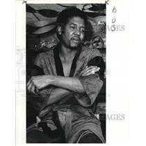 1985 Press Photo Emmanuel Chavez Driver for People's Busing Company Program