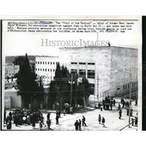 1961 Press Photo Security at Courthouse in Jerusalem For Nazi Adolf Eichmann
