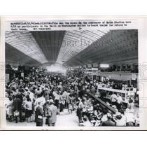 1963 Press Photo Civil rights marchers at Union Station