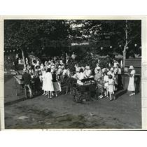 1932 Photo Pony Carts for Kiddies Southampton Street Fair on Long Isl.