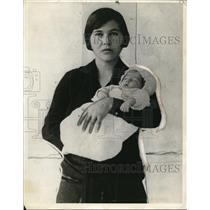 1927 Press Photo Dora Carlton with Son, Choctaw Indians