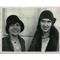 1930 Media Photo Evelina K Southworth Ruth Peterson US Tariff Commission Experts