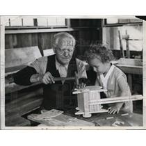 1934 Media Photo Rbt Archambeault & William Trau building toys in San Fran.