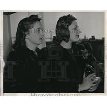 1940 Media Photo The first American evacuees of China are Betty Moyer & Margery