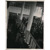 1935 Media Photo Long Lines at San Francisco California Unemployment Office