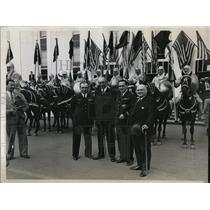 1934 Media Photo Captain Maurice Rossi Lieutenant Pail Codos French Aviators