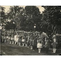 1925 Press Photo Birch Tree Planted On The Capitol's Grounds In Honor Of Mothers