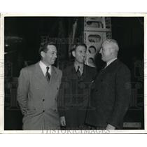 1940 Media Photo Donald Douglas, Carl Cover, H.H. Arnold at Douglas Aircraft Co.