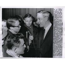 1963 Media Photo Bertram Powers, New York Printers Union President and Reporters