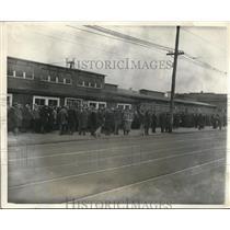 1931 Media Photo Camden NJ NY Shipyard Co as lines of workers rehired