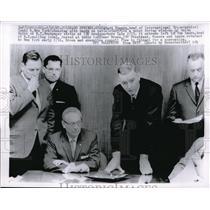 1963 Media Photo Bertram Powers, Tom Laura, Elmer Brown New York Newspaper Union