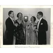 1931 Press Photo Agnes Davis, Hazel Arth, EA Kane, W Evans Prize Winners To Sing