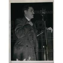 1938 Media Photo Boston Mass Earl Browder Communist leader at a rally