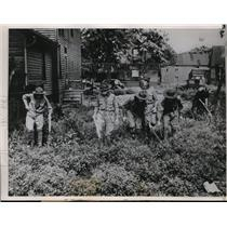 1936 Media Photo Boy Scouts searching for clues in Harry Drowe Jr kidnapping