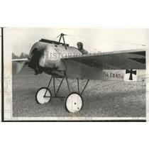 1962 Media Photo Air Force Maj. James S. Appleby in his home made replica plane.