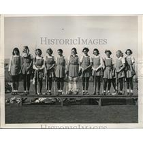 1939 Press Photo girls named All American at National Field Hockey Tournament