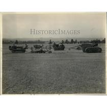 1928 Press Photo Stanford University Airport Being Prepared for President Hoover
