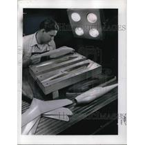 1953 Media Photo Model Plastic of Aircraft Building at Langley Field Laboratory