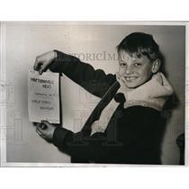 1935 Media Photo Abram Case Parker, 8, Edits & Publishes Hauptmanville News