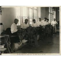 1930 Press Photo West Point's Tailor Shop Has A Staff Of 40 Tailors To Sew Unifo
