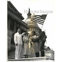 1927 Press Photo Venezuelan Boy Scouts Being Welcomed At The Capital By